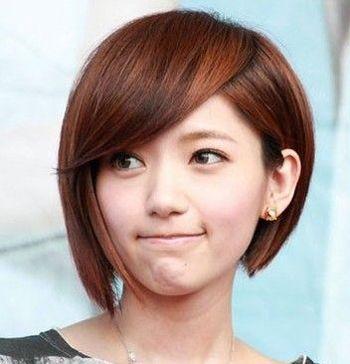 长脸女生短头发纹理烫好看吗 长脸短发纹理烫发型图片