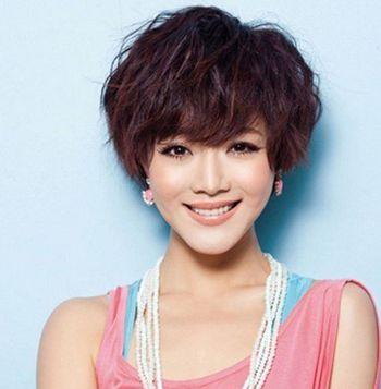 圆脸头发少短发发型设计 大圆脸适合的短发发型图片图片