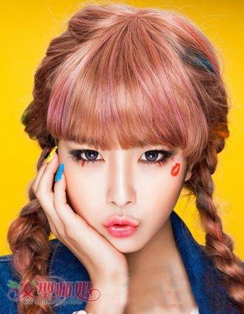 女孩有白头发染什么颜色好看 女孩时尚染发发型设计(3图片