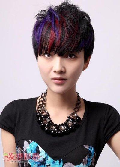 时尚短发染发发型设计