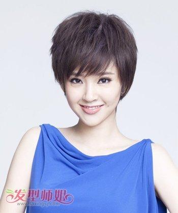 脸大头发少适合剪什么短头发好看 大脸发量少适合的短发发型图片(3)图片