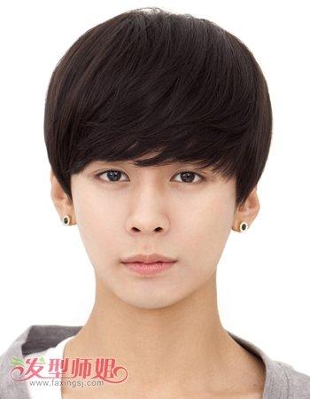 男士假发蘑菇头短发发型图片
