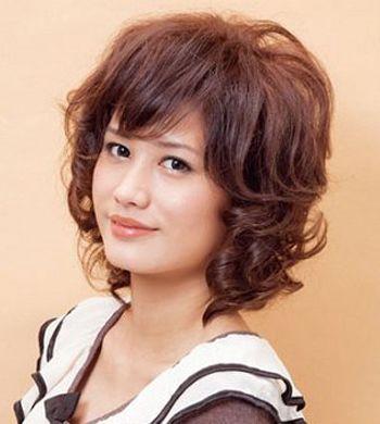 中老年大卷短烫发发型图片中老年女士烫发发型设计(4图片