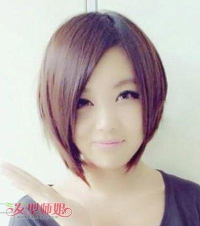 头发少的女生方脸适合什么发型 方形脸发型头发少(3)图片