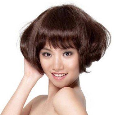 女孩纹理沙宣发型 沙宣烫发发型图片图片