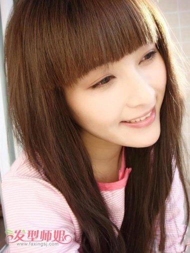长脸,肤色较黑的女生求个适合学生又妹子点的发型图片