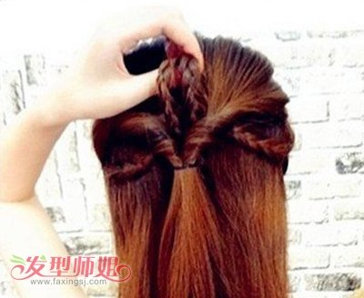 圆脸长发发型扎法图解 圆脸长发简单扎头发图解(4)图片