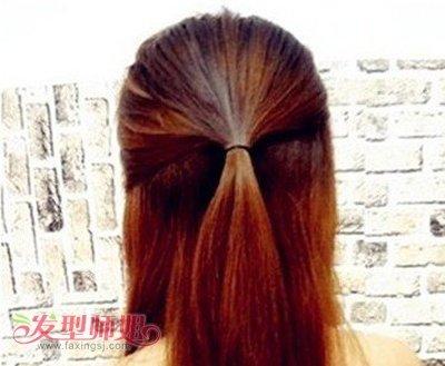 圆脸长发发型扎法图解 圆脸长发简单扎头发图解图片