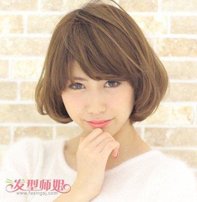 7韩国最流行短染发型图片 女生短发烫染发型图片