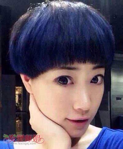 2017韩国最流行短染发型图片 女生短发烫染发型(2)图片