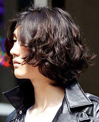 韩版男生卷发发型 男性波浪卷发发型图片图片