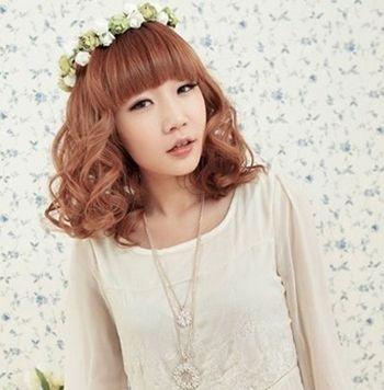 女孩大胖脸短发发型 胖脸型的短发图片(2)