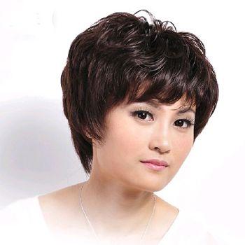 老年人头发适合染哪种颜色 中老年染发发型图片(3)