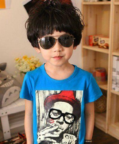 小男孩时尚短发发型设计-2015韩国男宝宝个性发型 男宝宝短发的发型