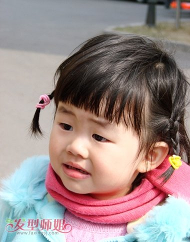 女童蜈蚣辫发型图片 儿童中短发蜈蚣辫编法(3)