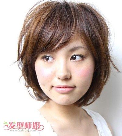 大脸脸短适合什么发型 40岁大脸适合的短发型图片 发型师姐图片