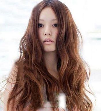 大脸盘适合的卷发发型图片