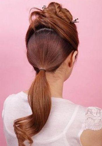最简单的花苞盘头图解 花苞盘低盘发发型步骤图片