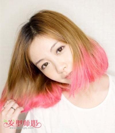 短发女适合染什么颜色的头发图片