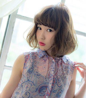 5女孩最流行的蘑菇发型 中长蘑菇头发型图片 发型师姐图片