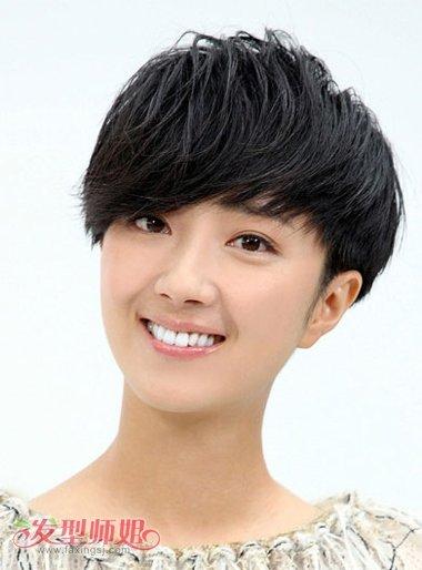 蘑菇头发型图片