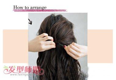 方脸适合的扎头发发型图片 方脸中长发发型扎法图解(3