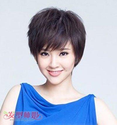 脸大适合什么短发发型 适合大脸盘女人的短发型(3)图片
