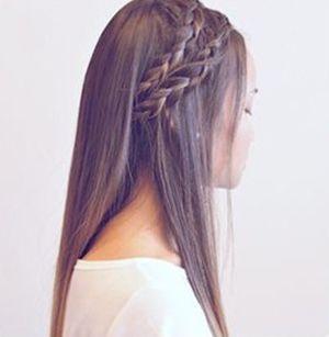中学生怎么扎辫子发型好看 多种辫子发型扎法(9)图片