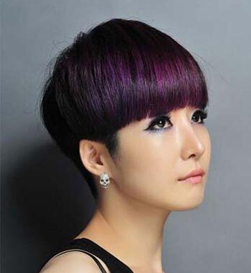 短头发适合染什么颜色 短发染紫红色头发好看么(3)图片