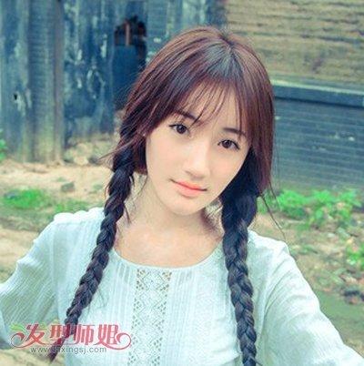 发型脸型 国字脸 >> 方脸额头宽适合什么刘海 脸宽适合什么刘海  宽脸图片