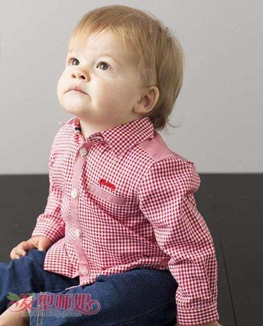 一周半男宝宝短发发型图片
