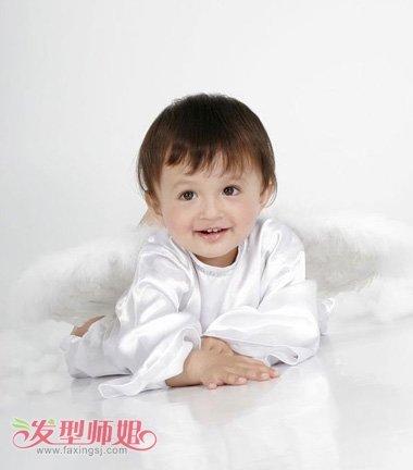一周半男宝宝短发发型图片 给自己宝宝剪发型 发型师姐