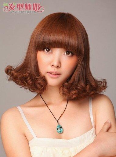 头小脸小适合什么样的短发图片 小脸短发适合的烫发(2图片