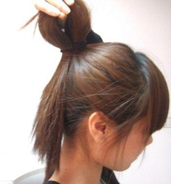 长头发怎么弄韩式鸟窝头 蓬松公主鸟窝扎法步骤