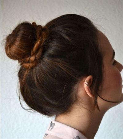 教自己盘简单花苞头发