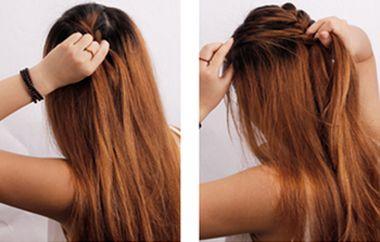蜈蚣辫子发型编法步骤