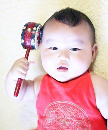 1岁小男孩发型图片 四周岁男宝宝的发型图片