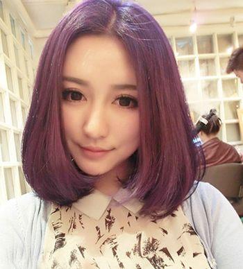 梨花头中分发型染什么色显白 梨花头渐变色发型(5)图片
