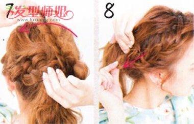 学生扎一个小辫的发型 刘海编辫子发型扎法图解(4)图片