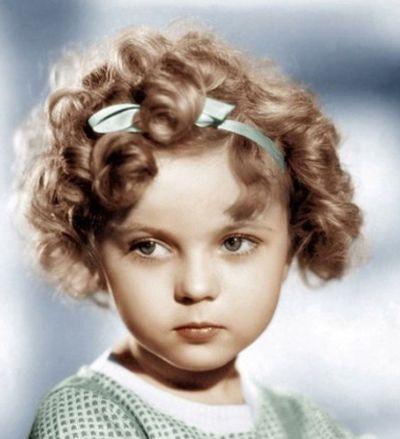小女孩时尚卷发发型图片