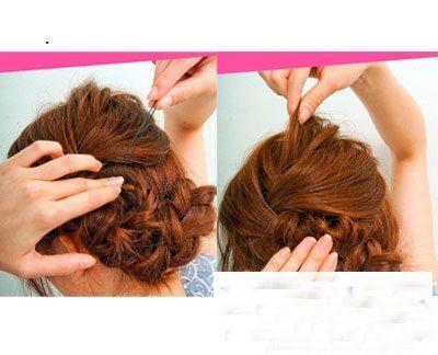 中年韩式发型 韩式发型盘发图解(4)图片