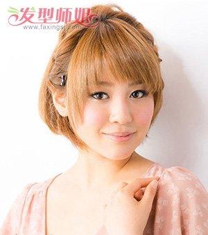 怎么样扎短头发好看,其实 扎头发发型在 短发中从来都不少见,扎 公主图片