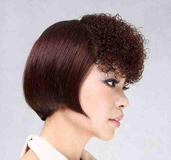 中小卷发型 中长发烫发小卷发型图片
