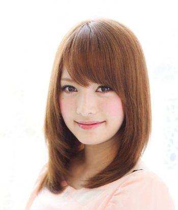 大圆脸斜刘海梨花头发型 大圆脸适合的斜刘海梨花头发型