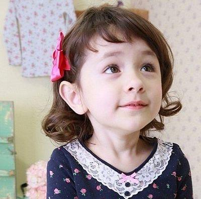 小女孩时尚短发波波头发型图片