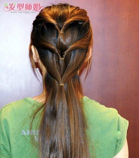 长发头发少的发型扎法 教2017简单发型扎法(6)