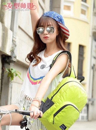 平刘海怎么样最好看 女生平刘海怎么戴棒球帽(4)图片