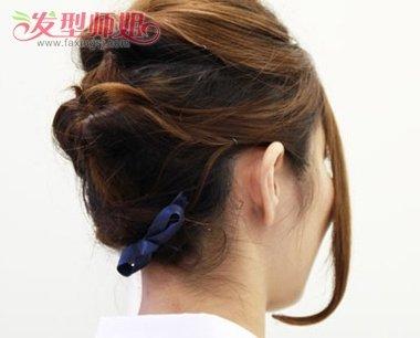 短发气质低盘发发型图片