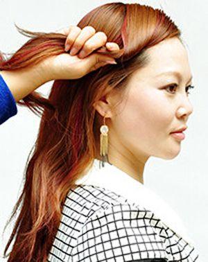 怎样将长刘海盘起来 刘海韩式盘头发型图解图片