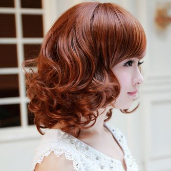 中短发小卷梨花烫发型 90后梨花卷发型图片